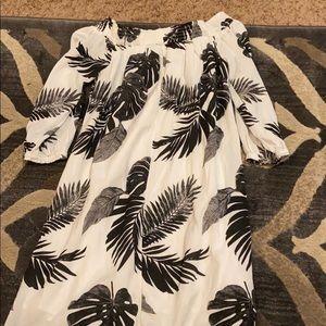 Tropical Off the Shoulder Sundress